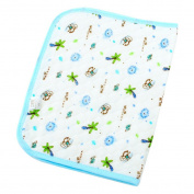 Happy Cherry Infant Baby Deluxe Ecological Cotton Change Pad,Waterproof Baby Nappy Changing Pad(60*80cm/23.62*31.5) - Blue