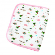 Happy Cherry Infant Baby Deluxe Ecological Cotton Change Pad,Waterproof Baby Nappy Changing Pad(60*80cm/23.62*31.5) - Pink