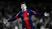 Lionel Messi F.C. Barcelona Football A1 Size Glossy Poster 80cm x 60cm