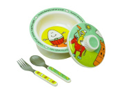 "Sugar Booger ""Nursery Rhyme"" Feeding Collection Covered Bowl Gift Set"