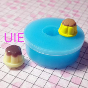 028LBG Pudding Silicone Flexible Push Mould Miniature Food, Sweets, Jewellery, Charms