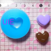 012LBG Heart Pudding Cake Dessert Fondant Silicone Mould for Cake Decorating Chocolate Soap Epoxy Clay Fimo Clay