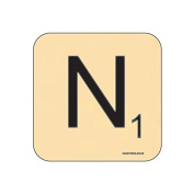 """""""N"""" Scrabble Letter NOVELTY Coaster - Fun Word Games Themed Design"""