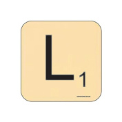 """""""L"""" Scrabble Letter NOVELTY Coaster - Fun Word Games Themed Design"""