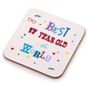 Best 17 Year Old Coaster - 17th birthday present gift idea. Perfect present for him, her, son or daughter
