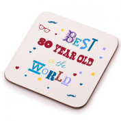 Best 80 Year Old Coaster - 80th birthday present gift idea. Perfect present for him, her, mum or dad