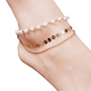 Tonsee Multi Tassel Sequins Anklet Chain