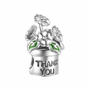 Soufeel 925 Sterling Silver Thank You Charm Fit Brands Charm European Charms Bracelets
