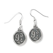 Official Harry Potter Sterling Silver Platform 9 ¾ Drop Earrings - Boxed