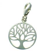 Welded Bliss Sterling 925 Silver Tree Of Life Clip Charm Pendant 18mm Diameter WBC1590