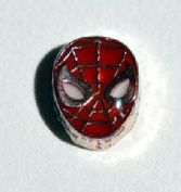 Spiderman face - 7mm floating charm will fit Living memory lockets and Origami Owl style lockets