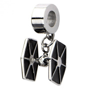 Official Stainless Steel TIE Fighter Dangle Bracelet Charm
