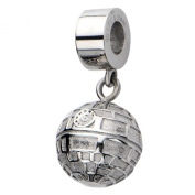 Official Stainless Steel Death Star Dangle Drop Bracelet Charm