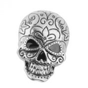 Skull Brooch Pin Halloween Party Favour Decoration Antique Silver