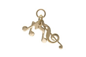 9ct Gold Music Notes Charm