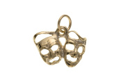9ct Gold Comedy & Tragedy Charm