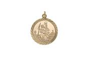9ct Gold St Christopher Pendant Charm