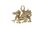 9ct Gold Solid Welsh Dragon Charm