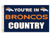 "NFL Denver Broncos 3-by-1.5m ""In Country"" Flag"