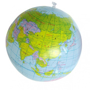 Mallon® 40CM Inflatable World Globe Teach Education Geography Toy Map Balloon Beach Ball