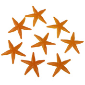 Plastic Starfish Models Kids Toy Set of 8pcs Yellow