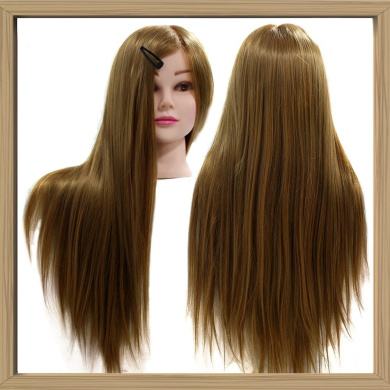Neverland Professional 60cm Super Long 50% Real Human Hair Hairdressing Equipment Mannequin Training Head For College and Professional Use