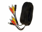 5 Metre 3 Way Cable for CCTV with Power, Audio, Video RCA Connectors