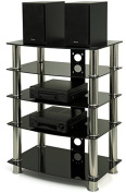 GTS-6 Plasma / LCD TV Stand with Black Glass