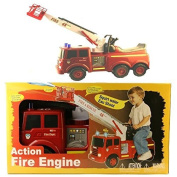 Fire Engine Ride On Toy Water Squirt Kids Play And Ride Vehicle