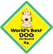 World's Best Dog On Board Sign, Car Sign, Baby on board, Novelty Car Sign, Bumper Sticker, Decal, Baby on Board, Car Sign, Dog, Pet Sign