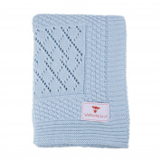 Patterned Knitted Baby Blankets-Softest Blue