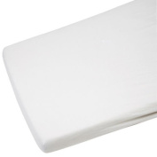 2x Cot Bed Jersey Fitted Sheets 140cm x 70cm White