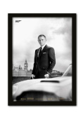 James Bond Bond and Db5 A3 Framed Print