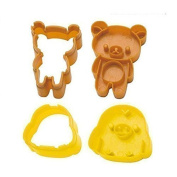 DIY 2pcs/set chicken bear sushi mould rice mould chocolate