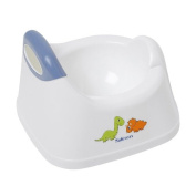 Safetots Dinosaur Toilet Training Potty White with Blue Trim