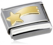 Nomination Composable Classic Fun Comet Stainless Steel and 18K Gold