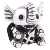 Baby Elephant Charm Bead - 925 Sterling Silver