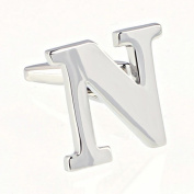 AmDxd Men's Fashion Characters Cufflinks English Letters Silver Birthday Gift