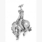 Rodeo Pin Badge Brooch Gift, Supplied in Organza Bag