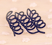 10x Black Spiral Hair Pin Clip Bun Stick Pick for DIY Hair Style / Sleek and Compact Alloy Construction, Designed to Fit for All Hair Type, Especially for Long Hair
