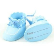 Baby Blue Boys Christening / New Baby Bootees Cake Topper