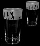 GOLF EVOLUTION GIFT ~ Boxed PINT BEER GLASS