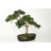 """Artificial Bonsai Cedar in decorative planter, 230 little branches / twigs, 16"""" / 40 cm - Bonsai Replica / Plastic Bonsai - artplants"""