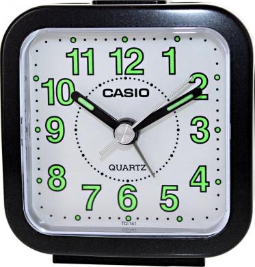 Casio TQ141-2 Travel Quartz Beep Alarm Clock (Blue)