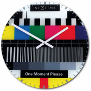Nextime - Testpage Wall Clock - 43 Diameter - Glass