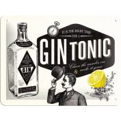 Nostalgic Art 26168 beer or spirits Gin Tonic Tin Plate Sign 15 x 20 CM