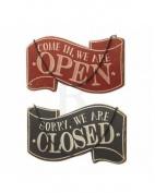 Reversible Open & Closed Wooden Sign