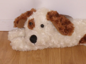 SAUSAGE DOG DRAUGHT EXCLUDER CREAM AND BROWN