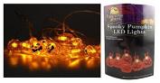10 Pumpkin LED Spooky Halloween Fairy Lights