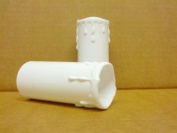 5 x White Plastic Candle Drips 70mmx32mm